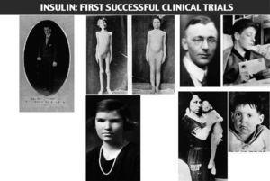 Compiled group of photographs of various patients successfully treated at the early insulin period.