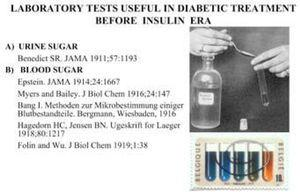 Chemical test for glucose emerged in 1833. The first semiquantitative urine glucose test was devised by Benedict in 1911. Micromethods for estimating blood levels of glucose became available in 1913.