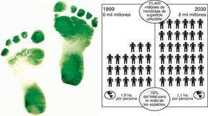La huella ecológica de la población. Fuente: elaboración propia.