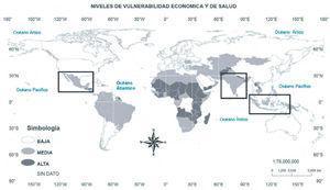 Grados de vulnerabilidad económica y de salud. Tomada de FAO9.