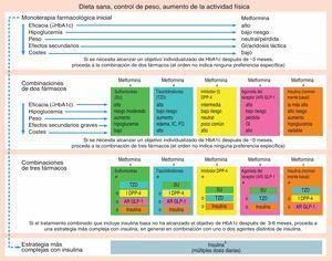 Niveles terapéuticos según consenso ADA/EASD 2012.