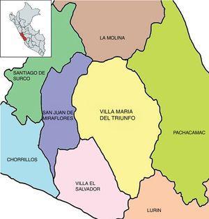 Área geográfica perteneciente del Distrito de Villa María del Triunfo, Lima-Perú donde se realizó el proceso de sectorización.