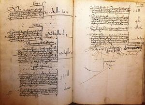 Cierre de la carta cuenta del receptor general de la Obra (1535-1536). ACT, OF-830, f. 119v-120r.