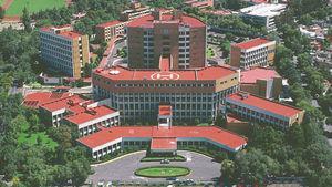 Vista aérea del Instituto Nacional de Cardiología Ignacio Chávez en la Ciudad de México.