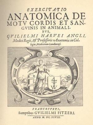 Primera monografía de William Harvey: Exercitatio anatomica de motu cordis et sanguinis in animalibus.7.