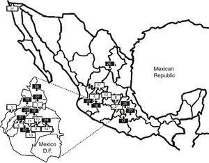 Geographical distribution of Cardiac Rehabilitation Centers.