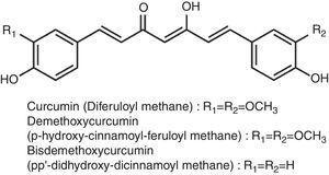 Structure of curcuminoids.