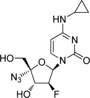 Chemical structure of NCC. Molecular formula: C12H15FN6O4. Molecular weight: 326.28g/mol.