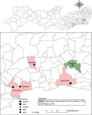 Distribution and occurrence of anti-Leptospira spp. in buffaloes of the state of Pernambuco, Brazil.