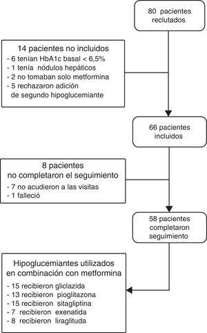 Diagrama de flujo de los pacientes.