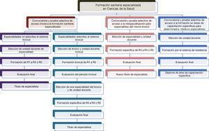 Esquema de las posibilidades de formación sanitaria especializada en Ciencias de la Salud tras la publicación del Real Decreto 639/2014, de 25 de julio.