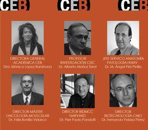 Dirección general académica del Máster en Oncología Molecular: Bases Moleculares del Cáncer.