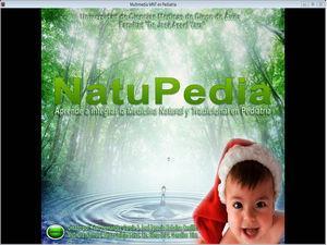 Página principal. Aplicación multimedia NatuPedia.