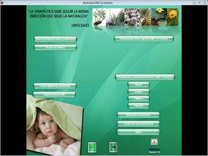Menú principal. Aplicación multimedia NatuPedia.