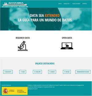 Página web del proyecto Datasea.