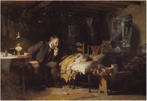 The doctor, Luke Fildes, 1891.