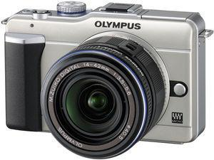 Example of a mirrorless camera, which is similar in size and appearance to a compact camera but offers superior features.