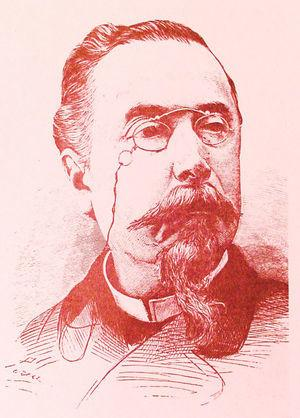 Portrait of Aureliano Maestre de San Juan, the first and best example of the Spanish anatomists who pioneered the study of histology in the second half of the 19th century. Maestre de San Juan was the most important histologist working in Spain before Ramón y Cajal.