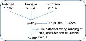 Flow diagram of the studies identified in the literature review.