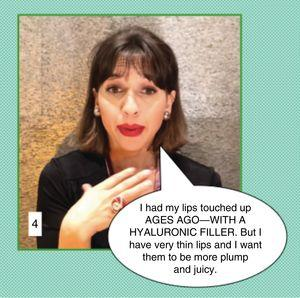 """Communication in cosmetic dermatology: Clinical case 4. In this case, the physician may be surprised for a number of reasons. The patient is talking about a defect we do not perceive. It is possible that the patient has body dysmorphic disorder. Furthermore, she may be lying when she says that the previous lip augmentation procedure with hyaluronic filler was done """"ages ago"""". Looking at her lips, we can see that the procedure was more likely performed recently or perhaps it was not done with hyaluronic filler but rather with some other material that would contraindicate hyaluronic therapy. The patient also complains about the results of earlier treatment. In this situation, without hurting her feelings, the best course of action would be to tell the patient that you are unable to offer her that treatment because, medically, you do not consider it to be indicated at this time. In this exchange it is unnecessary to either contradict or agree with the patient."""