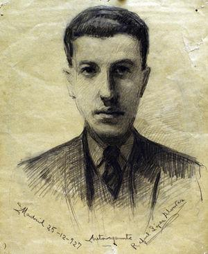 Self-portrait of Don Rafael López Álvarez.