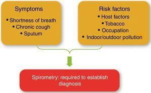 Pathways to the diagnosis of COPD.
