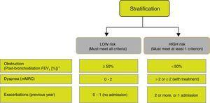 Risk stratification in patients with COPD.