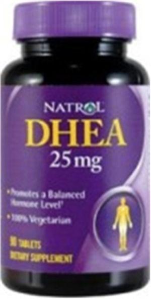 Embalagem comercial de DHEA.