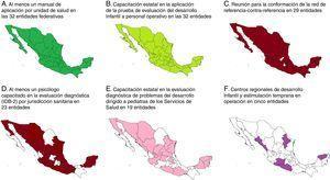 Nivel de avance en las actividades del Componente de Detección y Atención Oportuna en las entidades federativas, realizadas por la Comisión Nacional de Protección Social en Salud (CNPSS) en conjunto con el Centro Nacional para la Salud de la Infancia y la Adolescencia (CeNSIA), el Hospital Infantil de México Federico Gómez (HIMFG) y los Servicios Estatales de Salud.