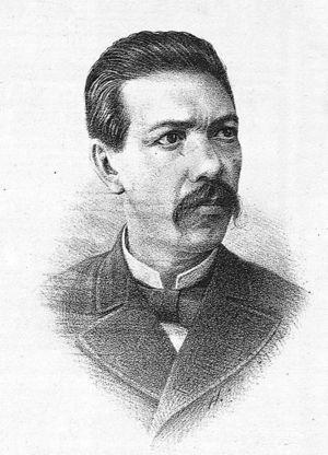 Dr. Eduardo Liceaga y Torres, jefe de la Sala de Niños Enfermos del Hospital de San Andrés y primer director del Hospital de Infancia. La Escuela de Medicina, 1883.
