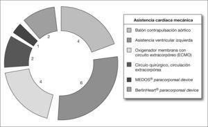 Recursos terapéuticos: soporte mecánico miocárdico.