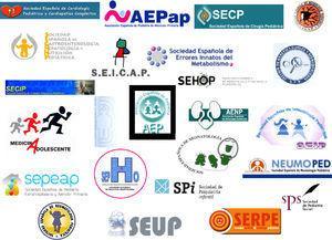 Sociedades científicas de la Asociación Española de Pediatría.