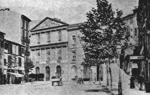 Teatro Principal de Palma en el que se celebró la inauguración del congreso (España Médica. 1914&#59;4(119):9).