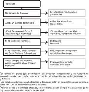 Recomendaciones41 para el diseño del régimen de tratamiento de la TB-MDR y TB-XDR.