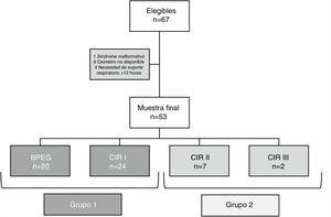 Diagrama de flujo de la inclusión de los pacientes en el estudio.