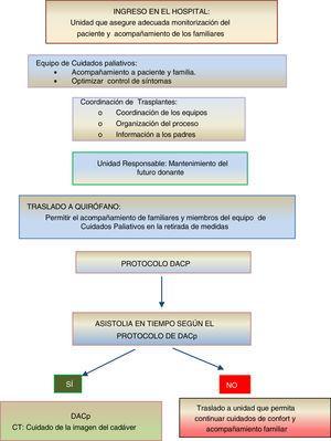 Resumen del proceso de DACp en niños en cuidados paliativos domiciliarios4,5.
