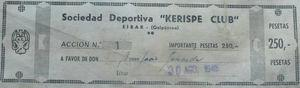 The first share of Kerizpe Club issued in 1948. Source: Kerizpe Club.