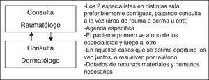 Características de la atención multidisciplinar conjunta paralela.