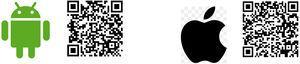 Códigos QR de descarga.