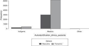 Distribución de la población por género y etnias identificadas.