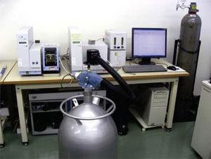 Nitrogen-based cooling system used in the test.