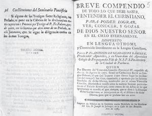 Ejemplar de Ramírez que pertenece al Fondo de Origen. Acervo: Biblioteca Nacional de México.