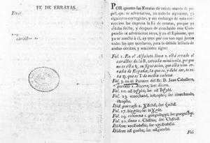 Fe de erratas tapada del ejemplar de Ramírez del Fondo de Origen. Acervo: Biblioteca Nacional de México.