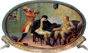 FernandoVII, Rey de las Españas, en prisión (1819).