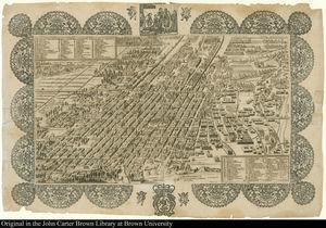 Planta y descripción de la ymperial ciudad de México en la América (Mexico City, 1760). Courtesy of the John Carter Brown Library at Brown University.
