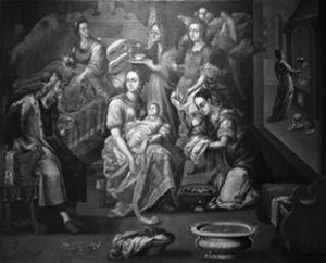 Nacimiento de la Virgen. Luis Berrueco. Museo del exconvento de Santa Mónica. Puebla. Foto cortesía del mismo museo.