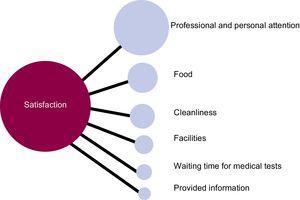 Consensus associative map of patient satisfaction.