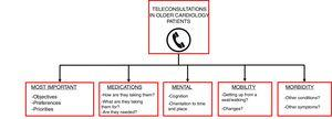 5M framework for teleconsultations with older cardiology patients.