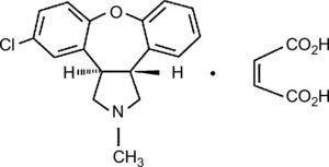Estructura química de asenapina.