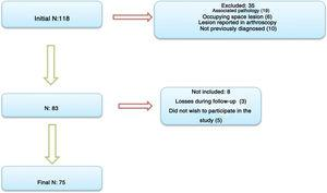 Flow chart of study protocol for release of the supra-scapular nerve.